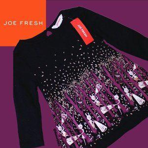 """NWT Joe Fresh Baby Girls """"Freshster"""" Graphic Dress"""